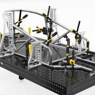 Welding tables cart jigged up