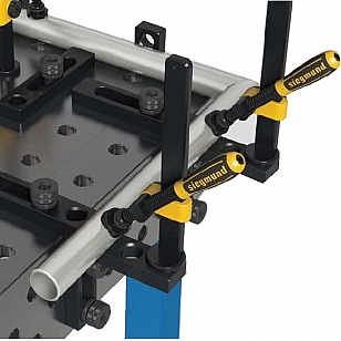Welding tables 45/90t clamp example