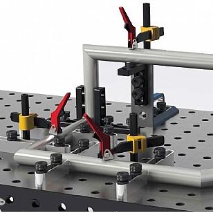 Welding tables rachet clamp example