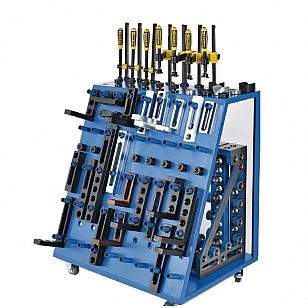 Welding tables tool trolley with tooling